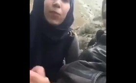 Muslim Hijab Teen Girl Gives Blowjob in public Turnali Turk Arab Sesli