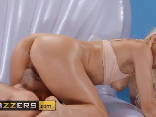 Brazzers - Phat ass Abella Danger gives footjob and rides cock
