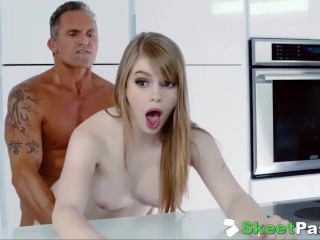 Sexy Teen Babysitter Gets Her Hairy Cunt Fucked Hard By Employer